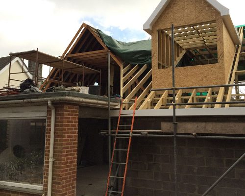 A property undergoing a complete renovation.